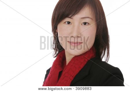 Asian Woman With Winter Clothes