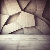 picture of rusty-spotted  - Abstract geometric background of the concrete - JPG