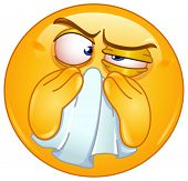 picture of blowing nose  - Emoticon wiping his nose - JPG