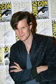 SAN DIEGO, CA - JULY 15: Matt Smith arrives at the 2012 Comic Con convention press room at the Bayfr