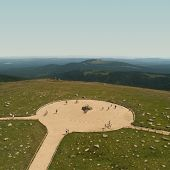 picture of reunited  - Brocken highest mountain in northern Germany and legendary becuse of witches - JPG