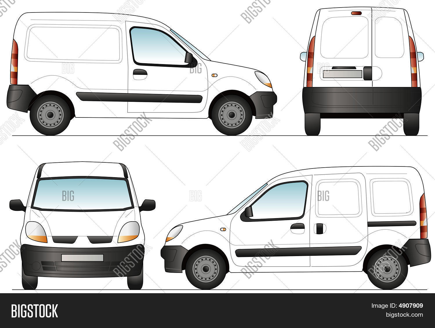 Delivery Van Template Vector & Photo | Bigstock