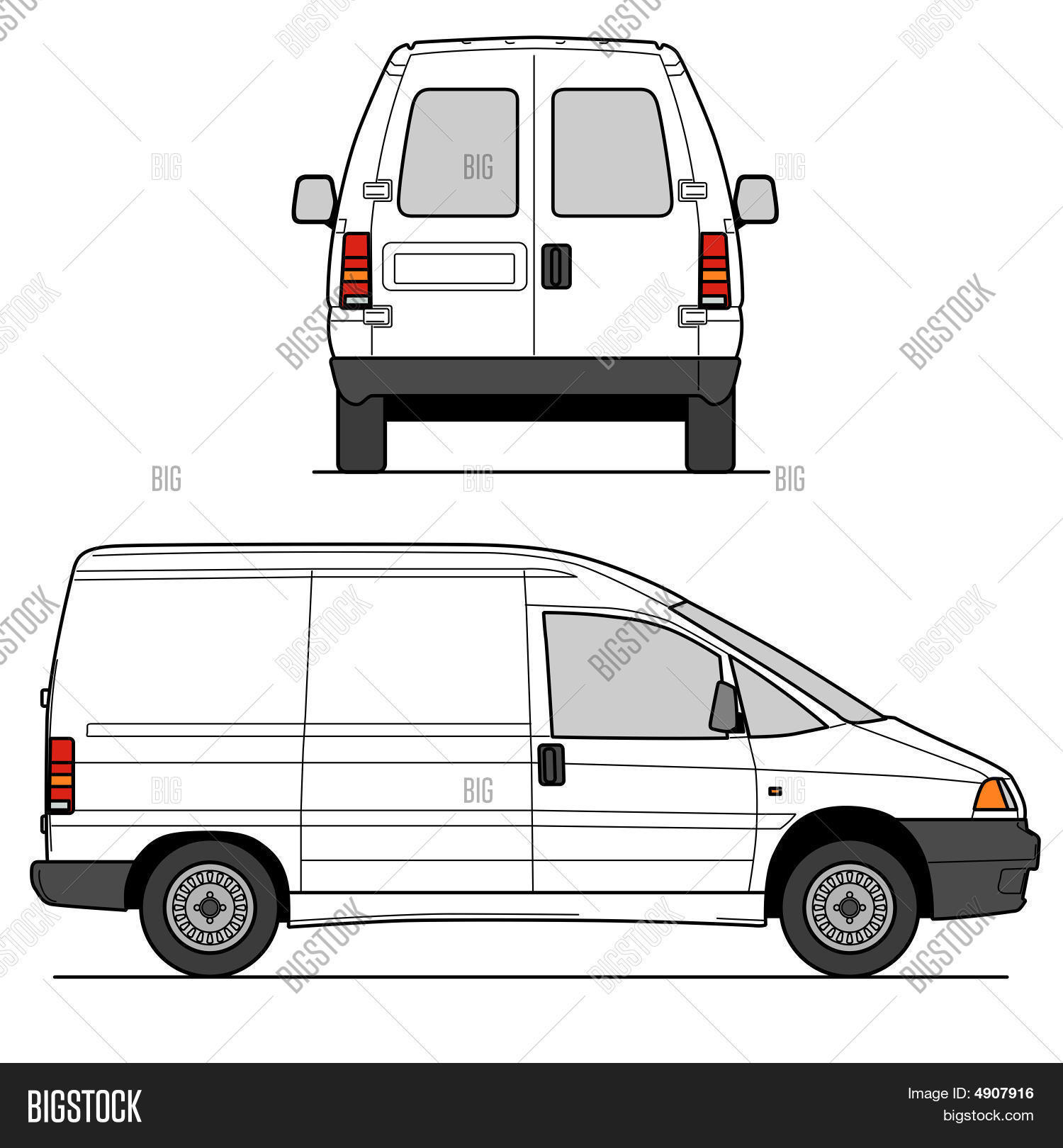 Delivery Van Vector & Photo | Bigstock