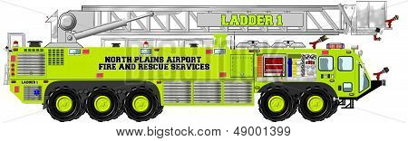 Airport Rescue and Firefighting Unit with Aerial Ladder