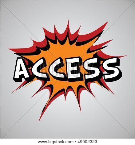 Comic Book Explosion Bubble - Access