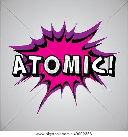 Comic Book Explosion Bubble - Atomic