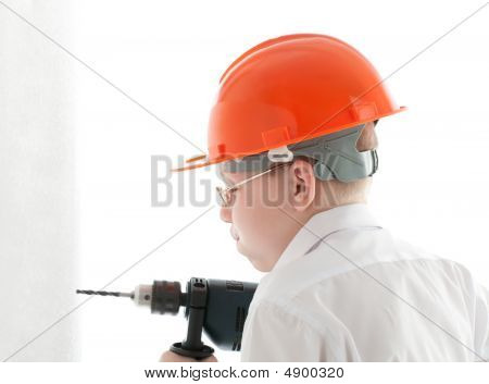 Teenager Drill The Wall