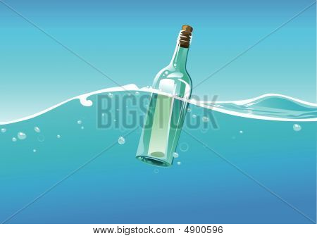 Water Wave And Bottle