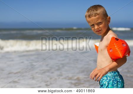 Young Boy Ready For A Swim
