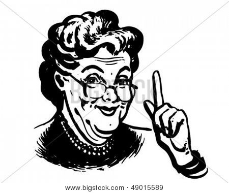 La abuela sabe - Retro Clip Art Illustration