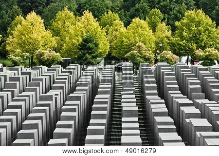 BERLIN, GERMANY - SEPTEMBER 22: Jewish Holocaust Memorial September 22th, 2011 at Berlin, Germany