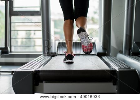 Exercising On A Treadmill