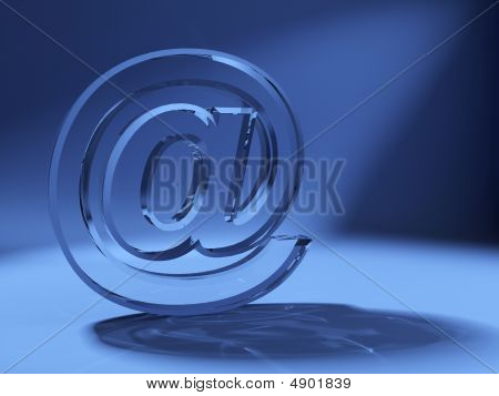 Arroba Symbol Made Of Glass