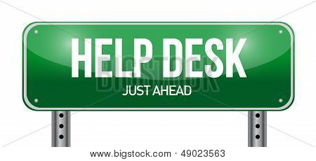Help Desk Road Sign Illustration Design