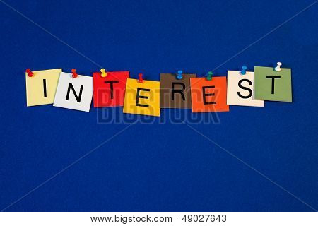 Interest - Sign Series For Business / Finance Terms.