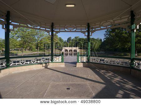 Victorian bandstand interior