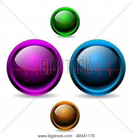 Shiny Ekg Buttons