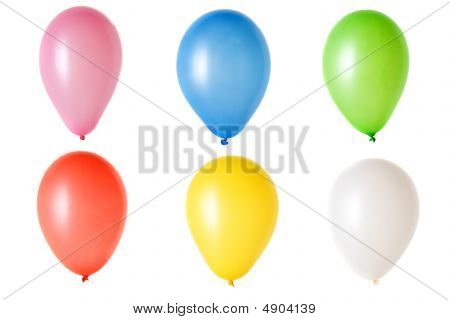 Balloon On White