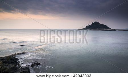 St Michael's Mount Bay Marazion landscape sunrise long exposure Cornwall England