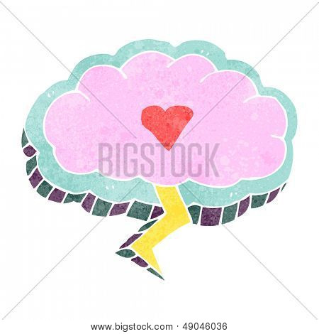 retro cartoon love struck lighting cloud symbol