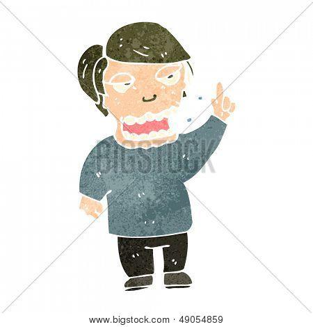 retro cartoon burping man