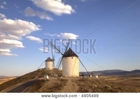 Moinhos de vento espanholas de La Mancha 5
