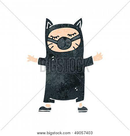 retro cartoon cat costume