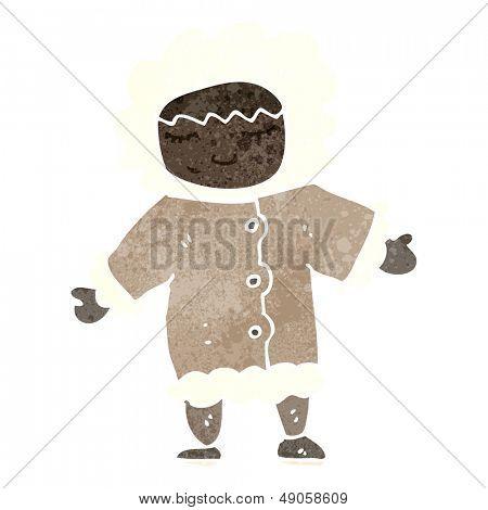retro cartoon eskimo