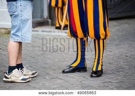 Swiss Guard In Vatican