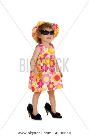 Little Girl In Bis Shoes