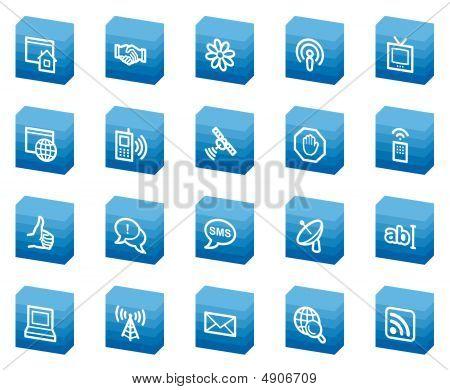 Internet Web Icons, Blue Box Series
