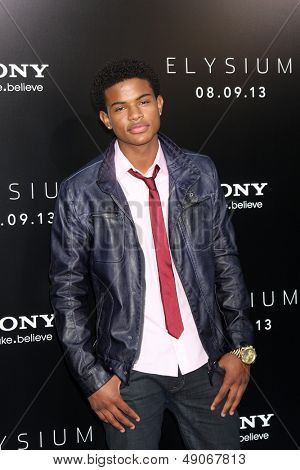 LOS ANGELES - AUG 7:  Trevor Jackson arrives at the