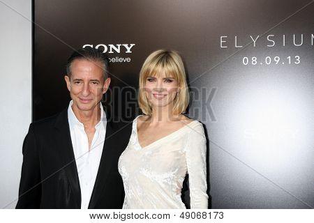LOS ANGELES - AUG 7:  Bill Block, Eugenia Kuzmina arrives at the