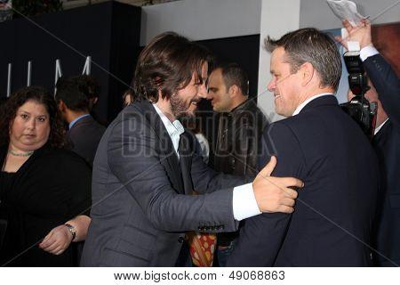 LOS ANGELES - AUG 7:  Diego Luna, Matt Damon arrives at the