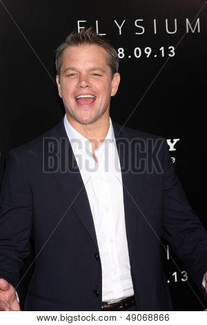 LOS ANGELES - AUG 7:  Matt Damon arrives at the