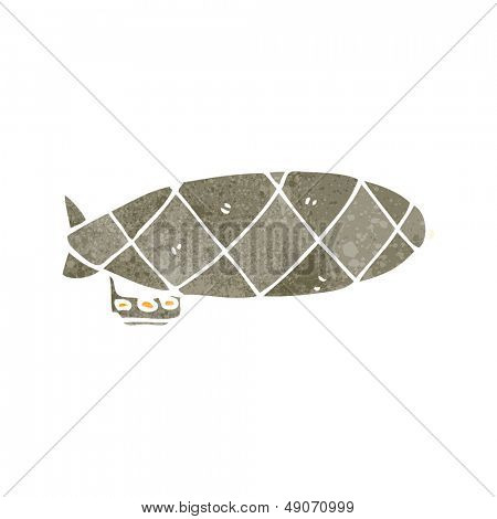 zeppelin retrô dos desenhos animados