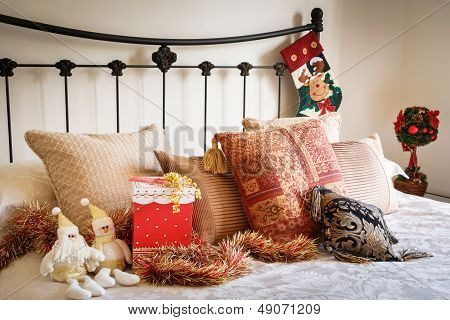 Christmas Bedroom Interior