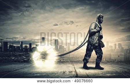 Stalker in gas mask