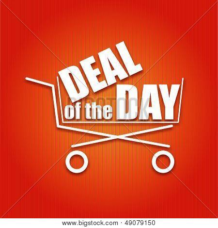 Negócio do cartaz do dia com uma cesta, ilustração vetorial