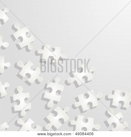 Puzzle pattern background. Vector illustration