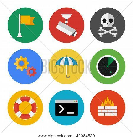 Internet Security Icons Set