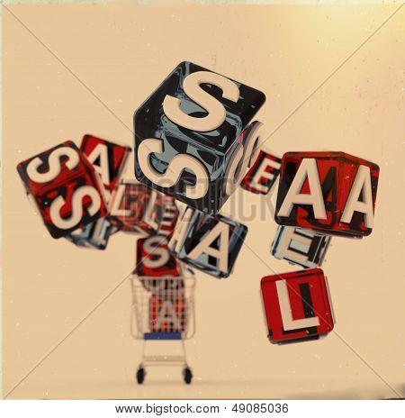 3D Shopping Cart Sale