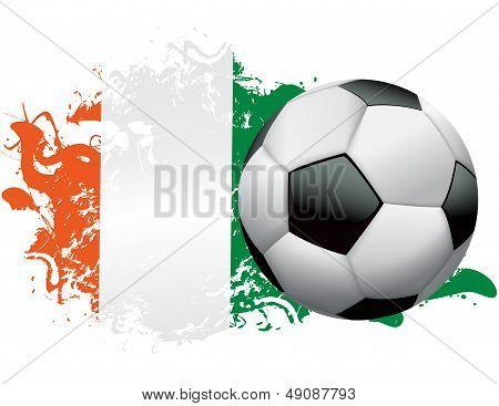 Ireland Soccer Grunge Design
