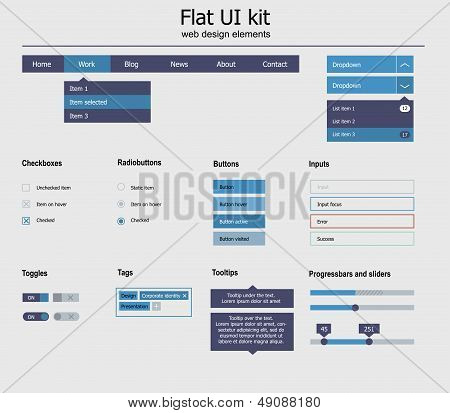 UI is a set of beautiful components featuring the flat design, trend