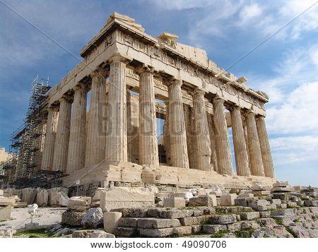 Acropolis Of Athen With Parthenon Temple