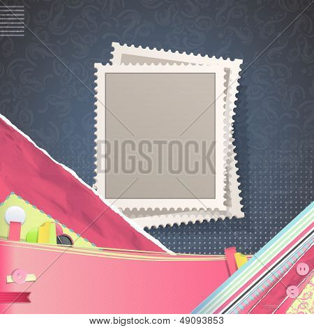 Nice Design With Empty Stamp. Vector Design.