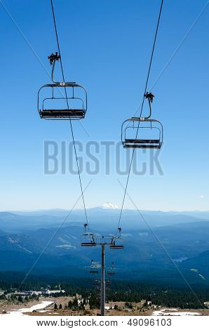 Chairlift Down Mount Hood