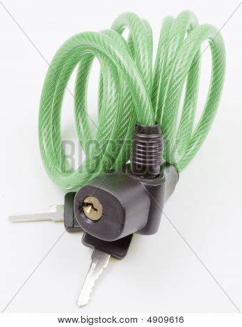 Green Cable Lock