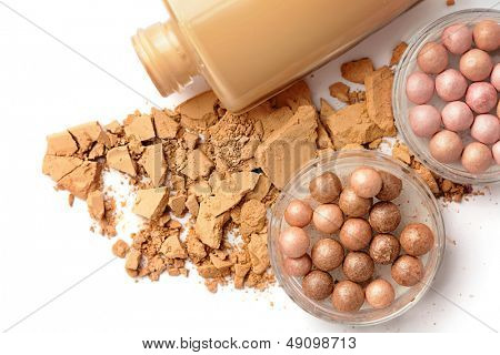 Foundation and face powder - make-up for fashion and beauty magazines