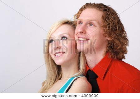Smiling Couple Close Up